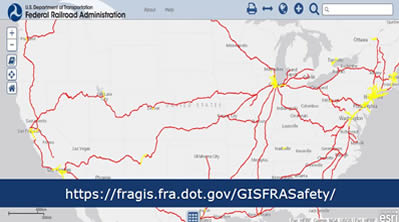 FRA Safety Map view