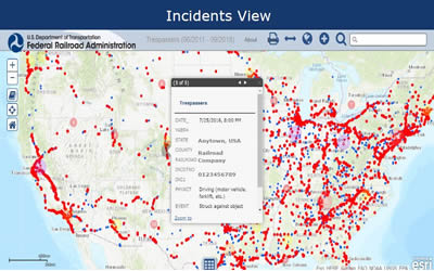Incidents map view